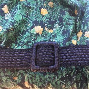 YSL Rive Gauche Black raffia belt, medium/large